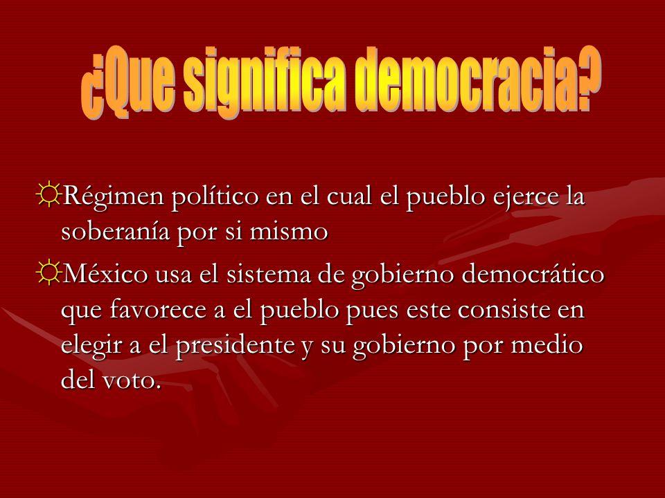 ¿Que significa democracia