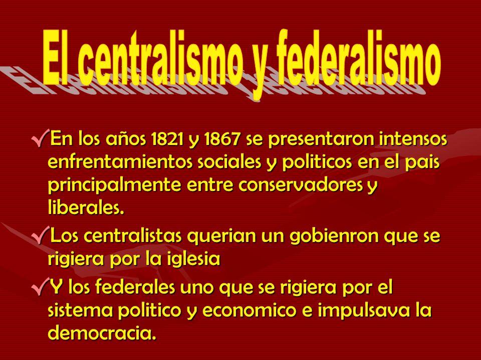 El centralismo y federalismo