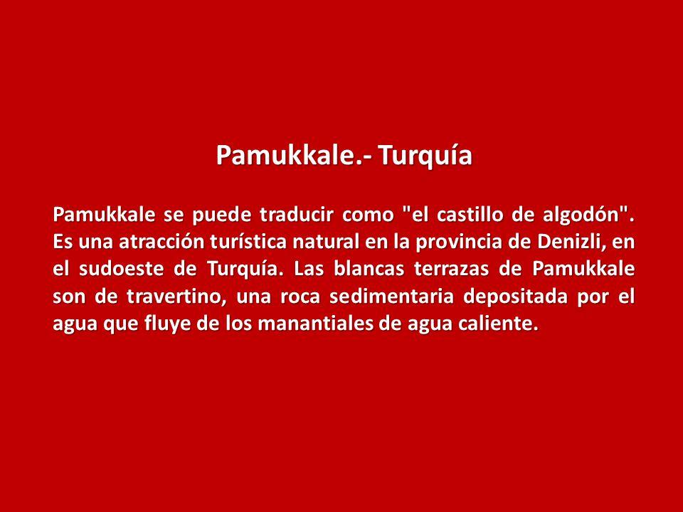 Pamukkale.- Turquía