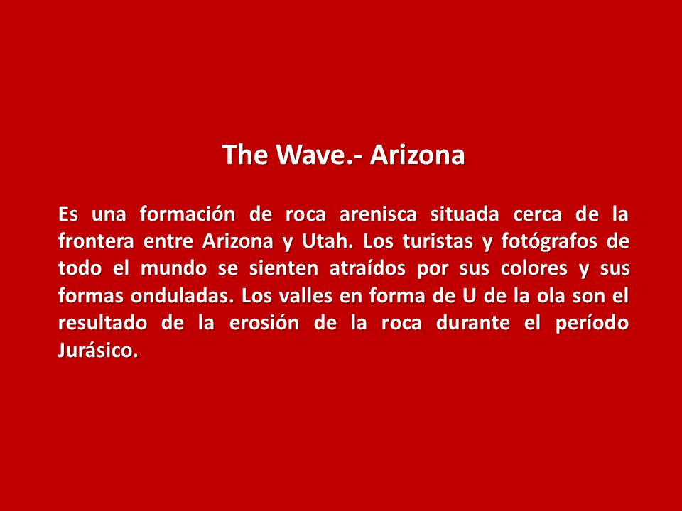 The Wave.- Arizona
