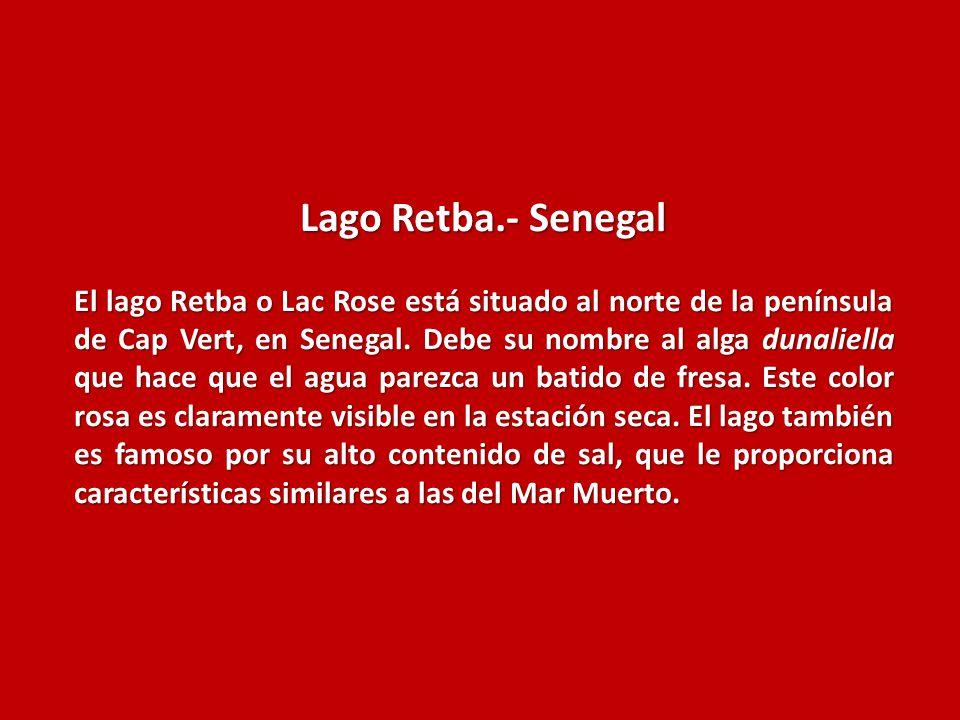Lago Retba.- Senegal