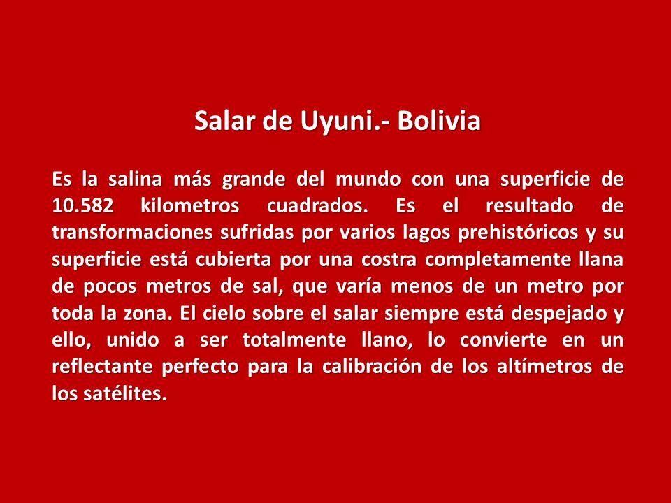 Salar de Uyuni.- Bolivia