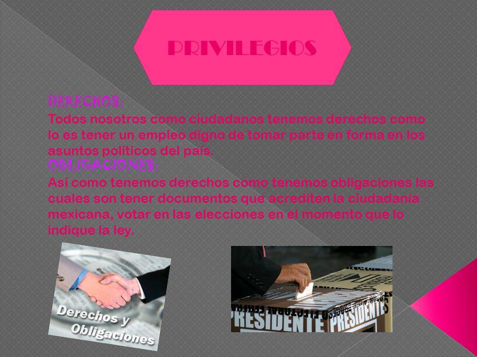 PRIVILEGIOS DERECHOS: