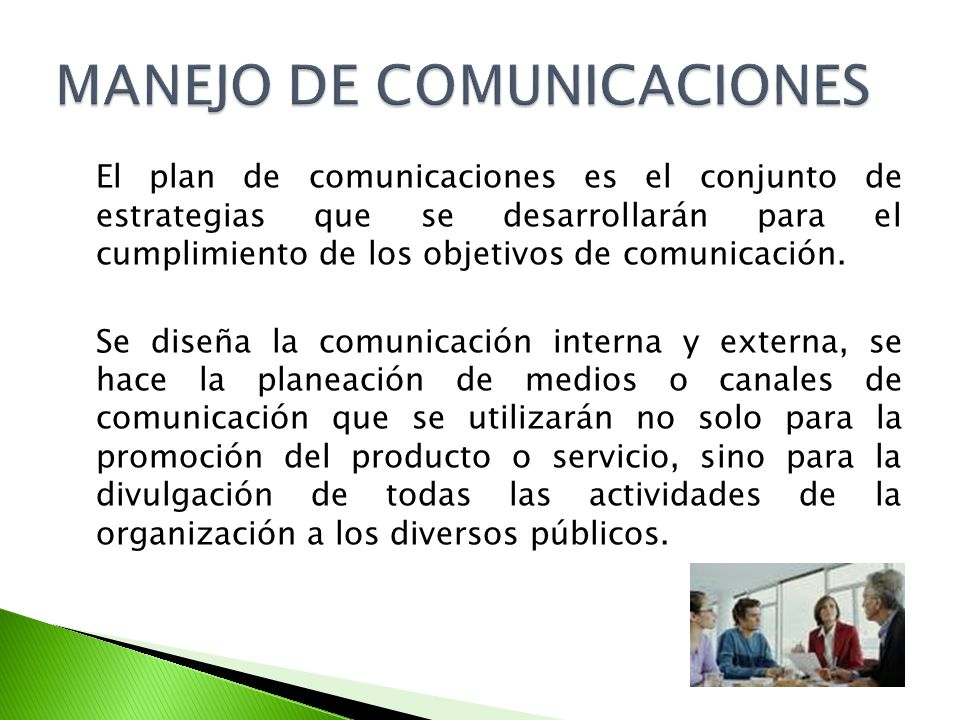 MANEJO DE COMUNICACIONES