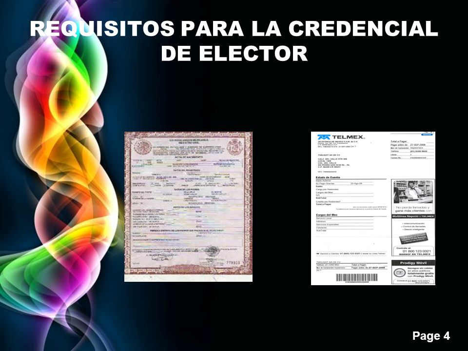 REQUISITOS PARA LA CREDENCIAL DE ELECTOR