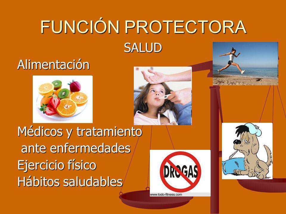 FUNCIÓN PROTECTORA SALUD Alimentación Médicos y tratamiento