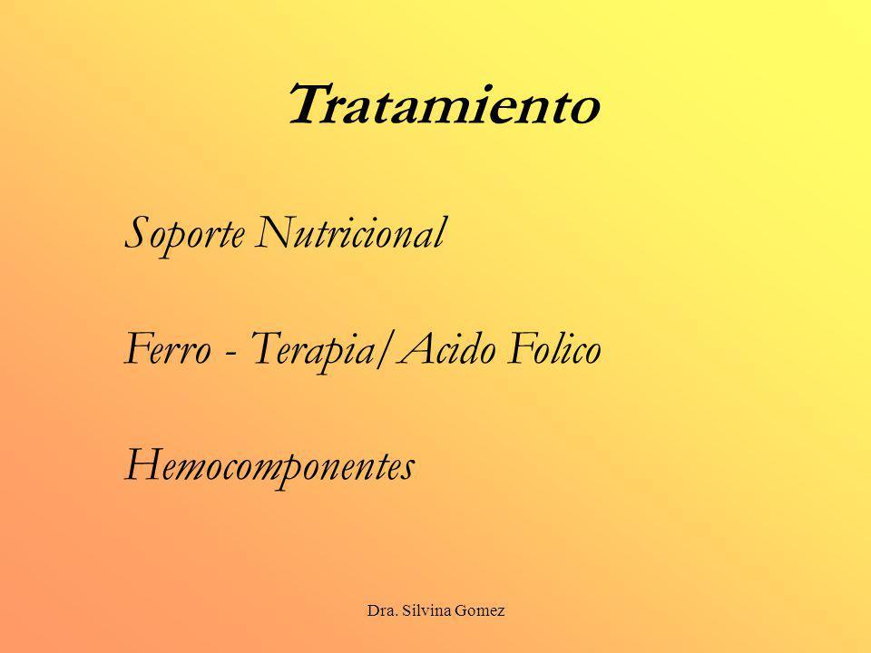 Tratamiento Soporte Nutricional Ferro - Terapia/Acido Folico