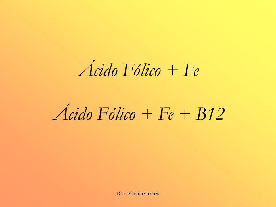 Ácido Fólico + Fe Ácido Fólico + Fe + B12 Dra. Silvina Gomez