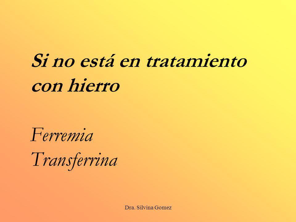 Si no está en tratamiento con hierro Ferremia Transferrina