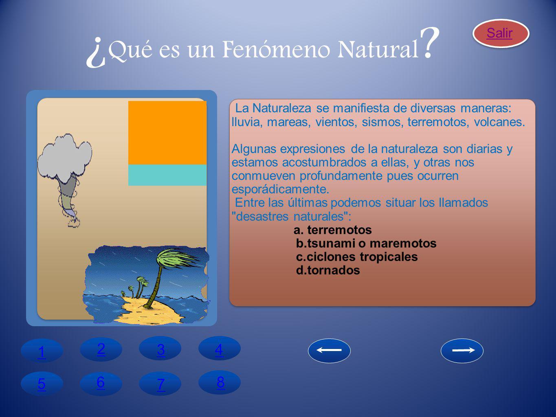 ¿Qué es un Fenómeno Natural