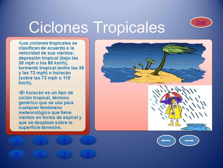 Ciclones Tropicales 2 3 4 1 5 6 8 7 Salir