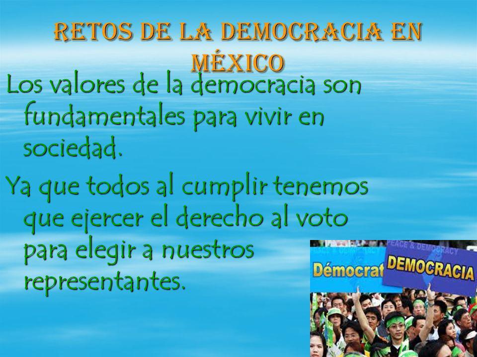 Retos de la democracia en México