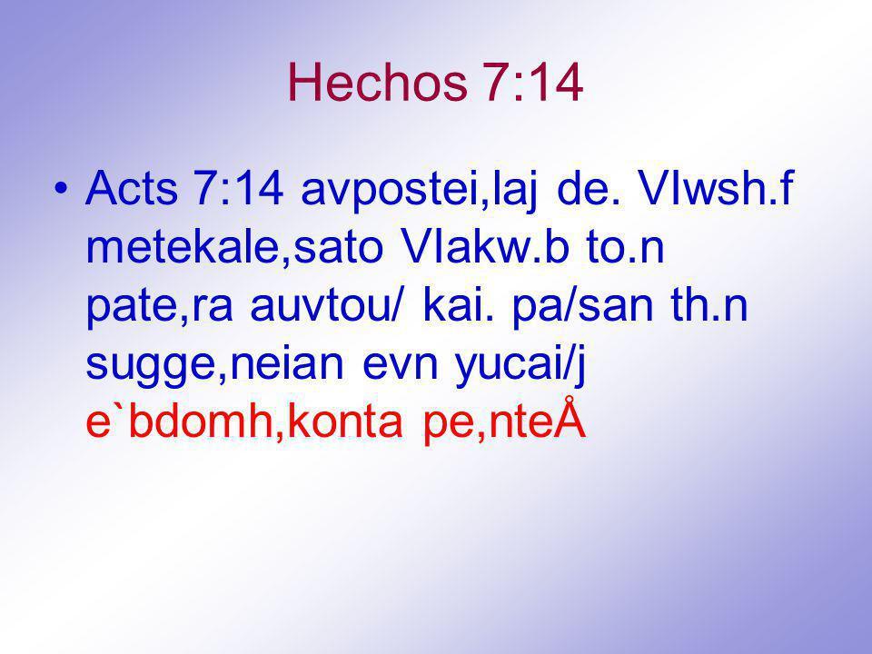 Hechos 7:14