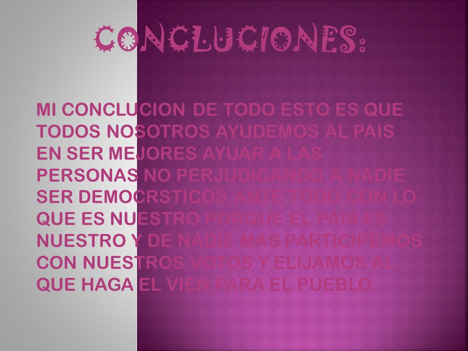 CONCLUCIONES: