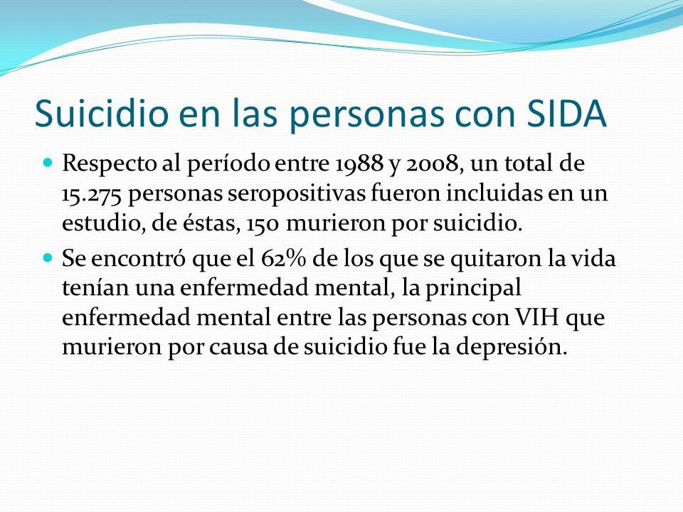 Suicidio en las personas con SIDA