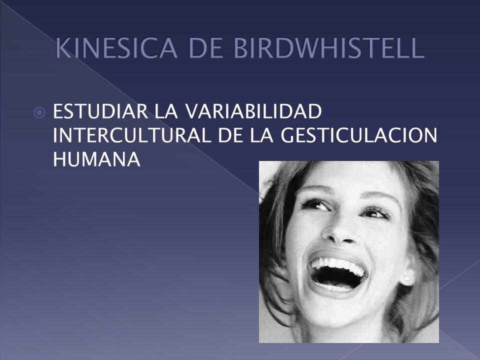 KINESICA DE BIRDWHISTELL
