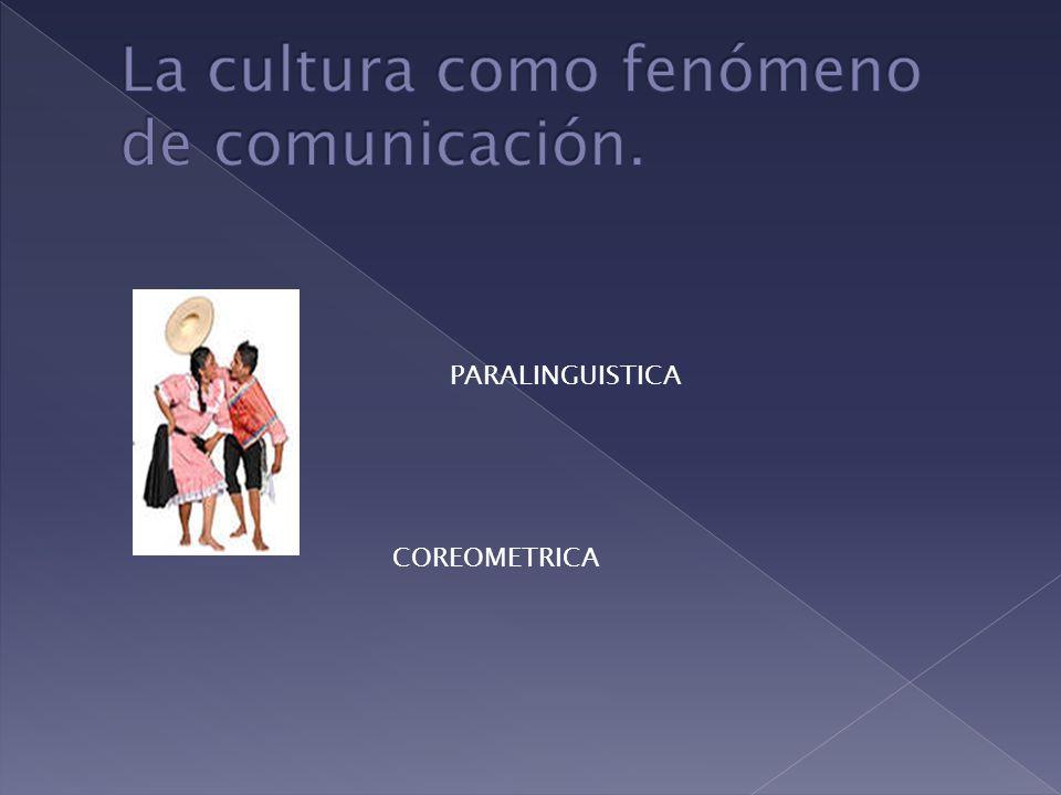 La cultura como fenómeno de comunicación.