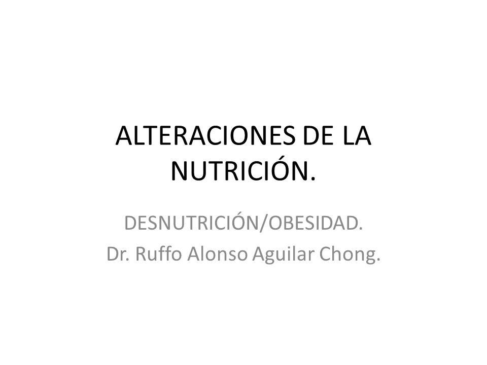 ALTERACIONES DE LA NUTRICIÓN.