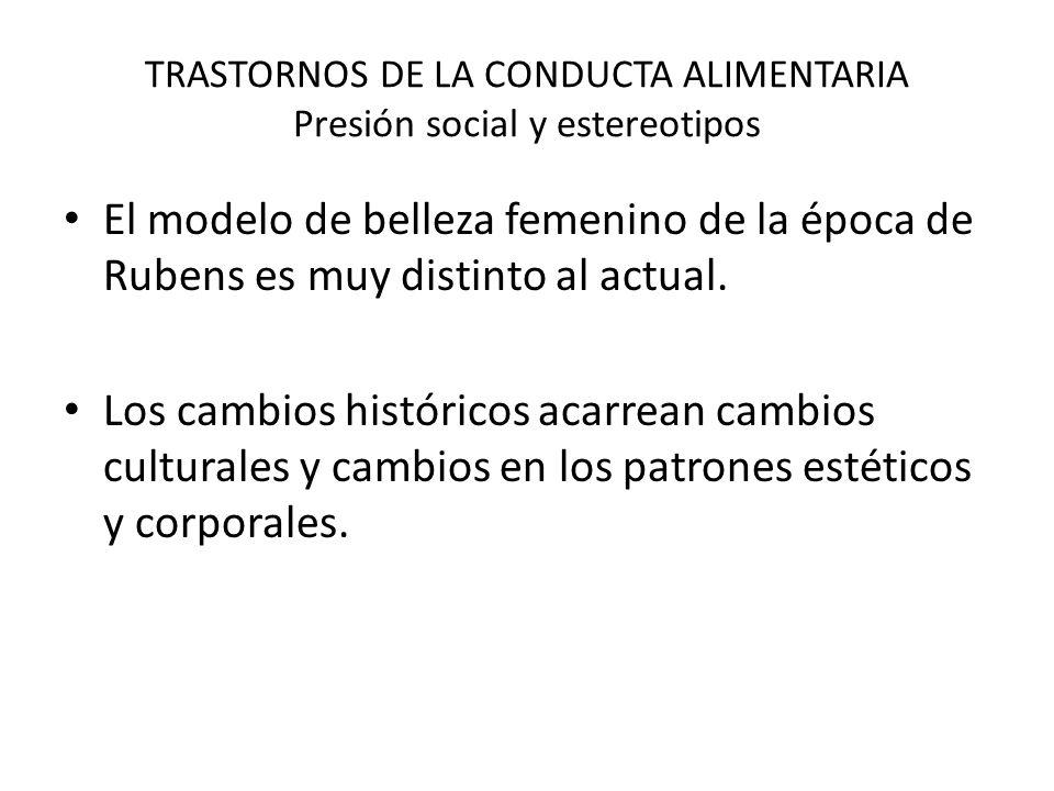 TRASTORNOS DE LA CONDUCTA ALIMENTARIA Presión social y estereotipos
