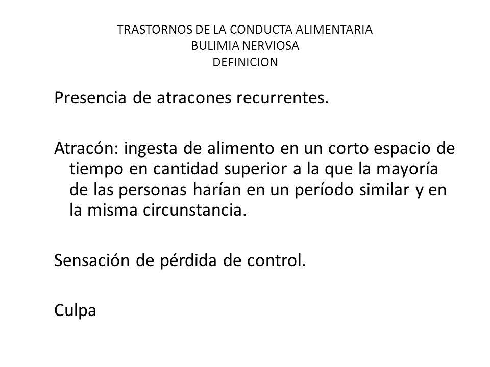 TRASTORNOS DE LA CONDUCTA ALIMENTARIA BULIMIA NERVIOSA DEFINICION