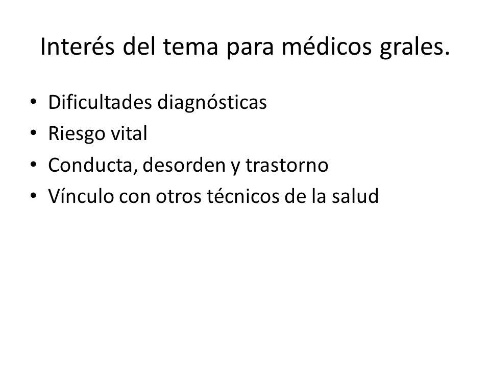 Interés del tema para médicos grales.