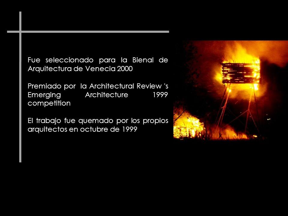 Fue seleccionado para la Bienal de Arquitectura de Venecia 2000