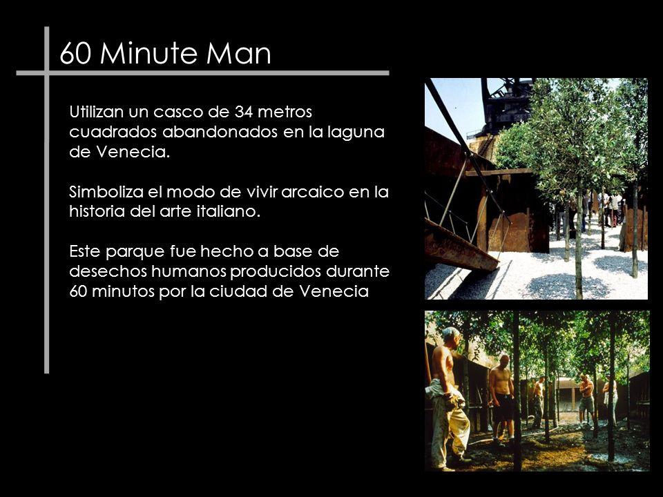 60 Minute Man Utilizan un casco de 34 metros cuadrados abandonados en la laguna de Venecia.