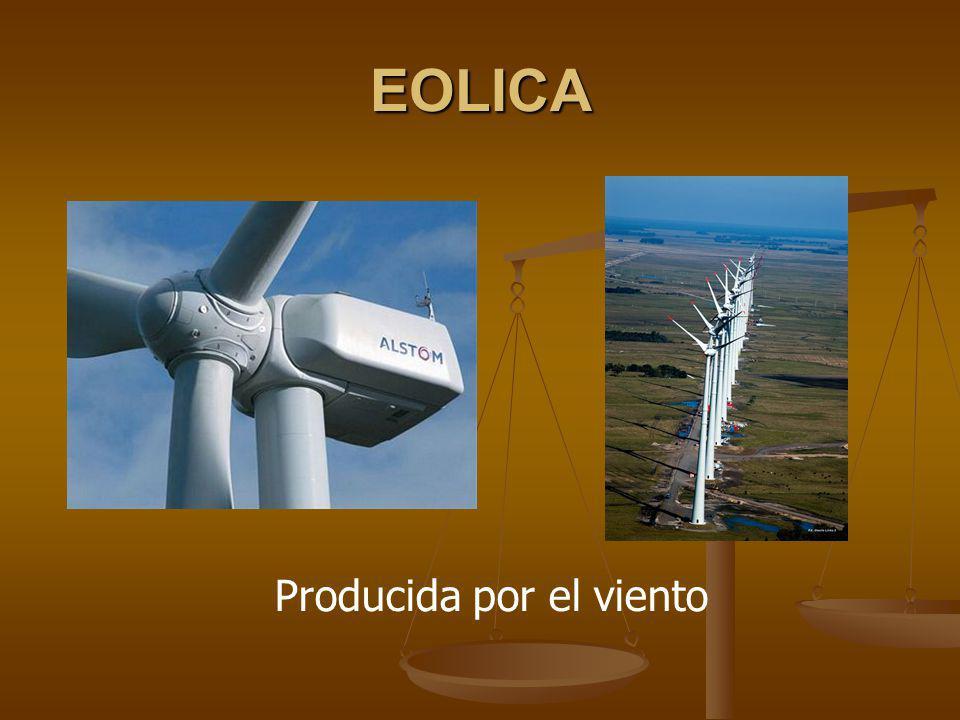 Producida por el viento