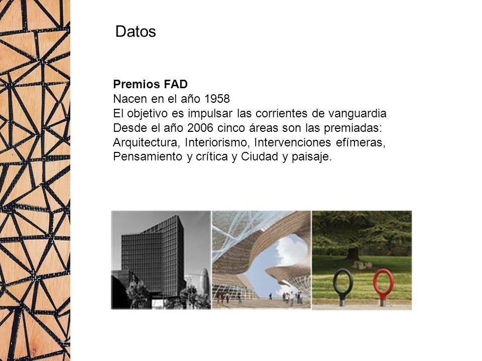 Datos Premios FAD Nacen en el año 1958