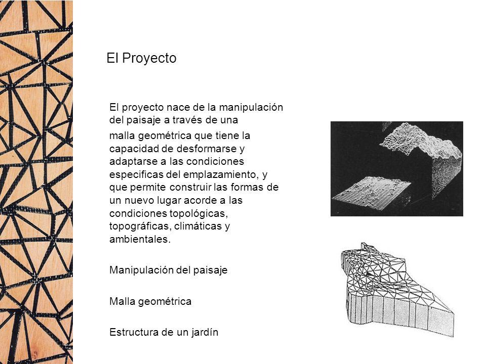El Proyecto El proyecto nace de la manipulación del paisaje a través de una.