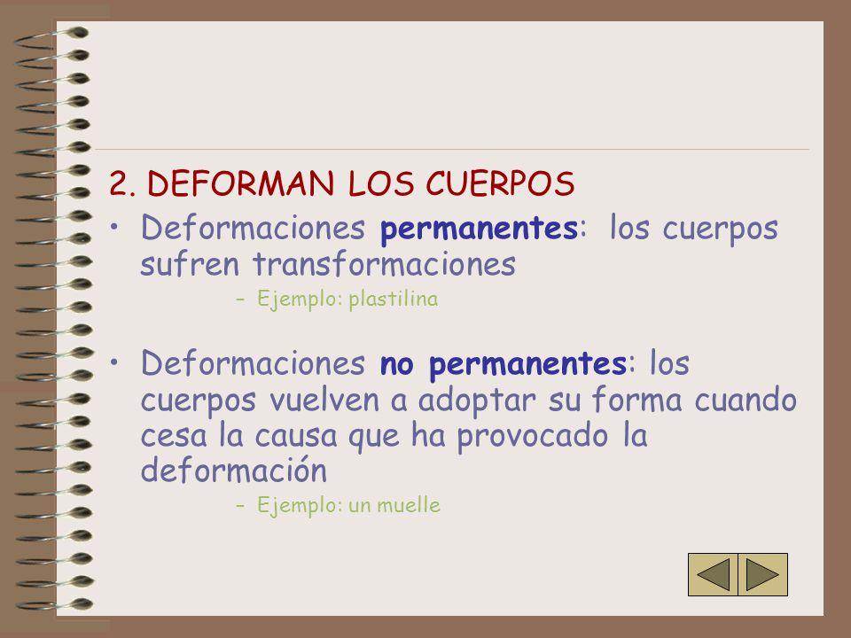 Deformaciones permanentes: los cuerpos sufren transformaciones