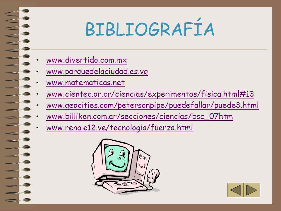 BIBLIOGRAFÍA www.divertido.com.mx www.parquedelaciudad.es.vg