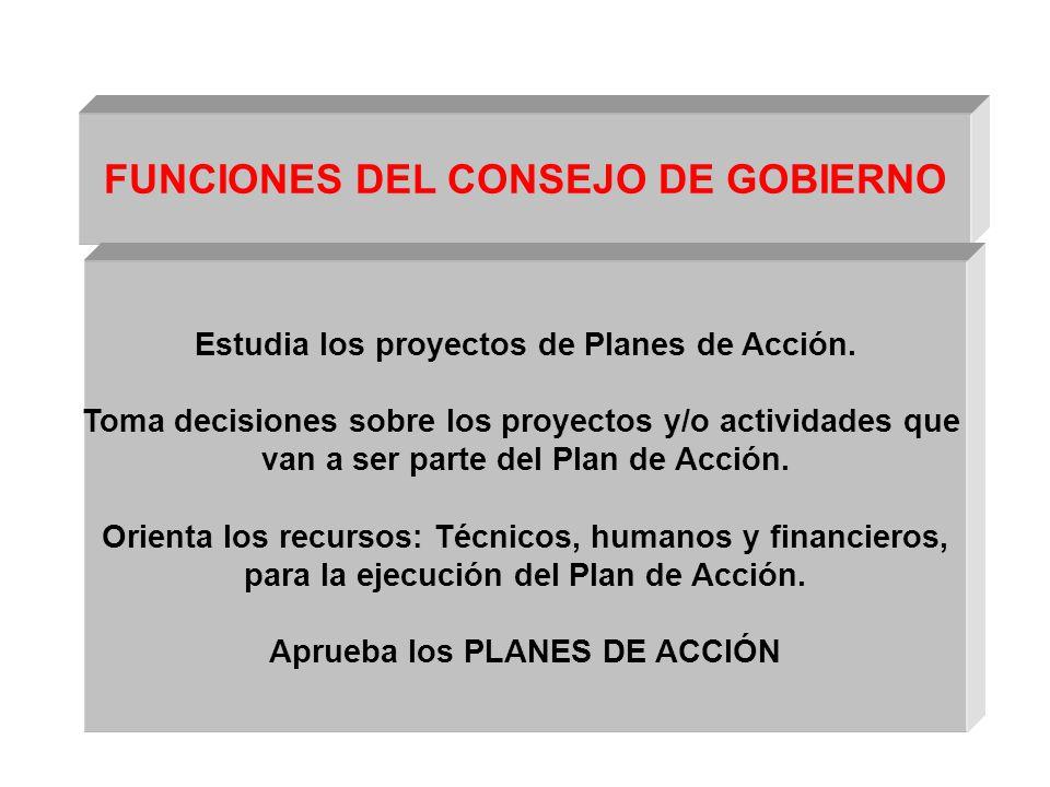 FUNCIONES DEL CONSEJO DE GOBIERNO