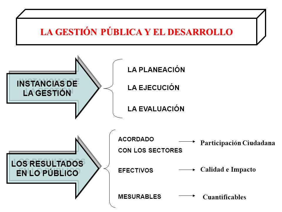 LA GESTIÓN PÚBLICA Y EL DESARROLLO