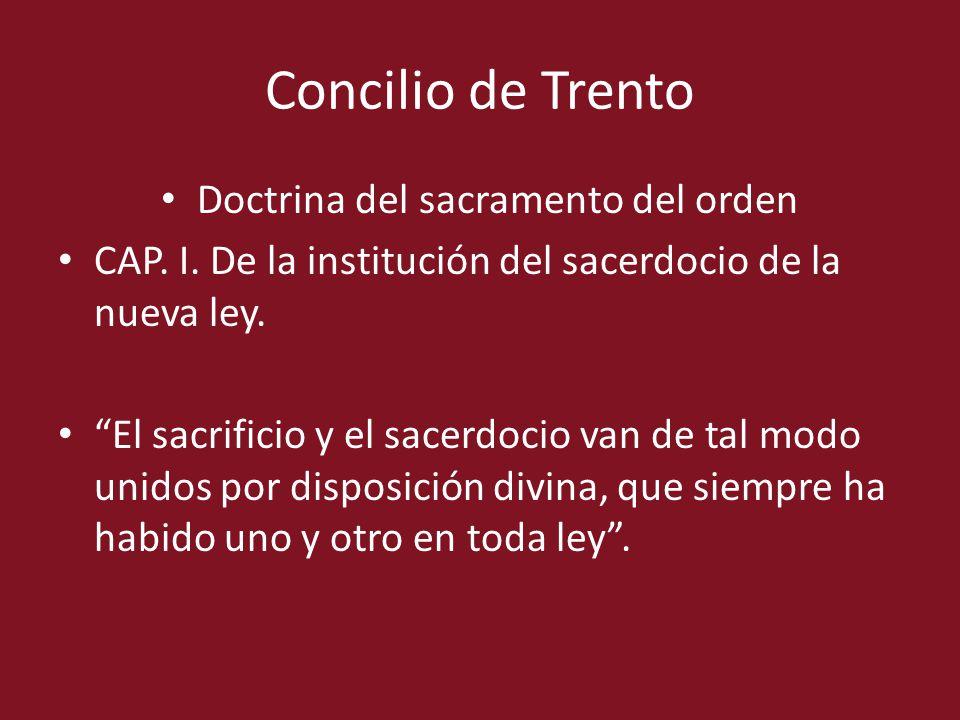 Doctrina del sacramento del orden