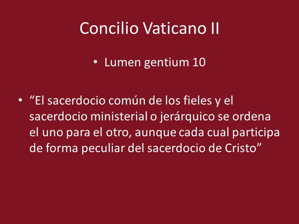 Concilio Vaticano II Lumen gentium 10