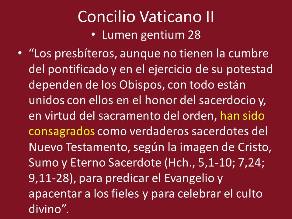 Concilio Vaticano II Lumen gentium 28