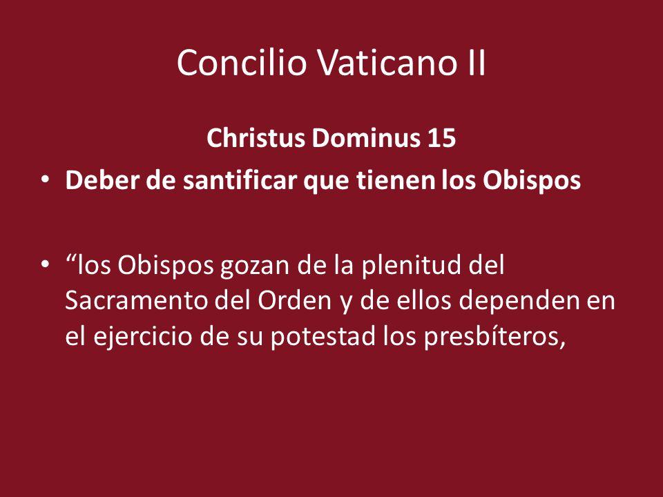 Concilio Vaticano II Christus Dominus 15
