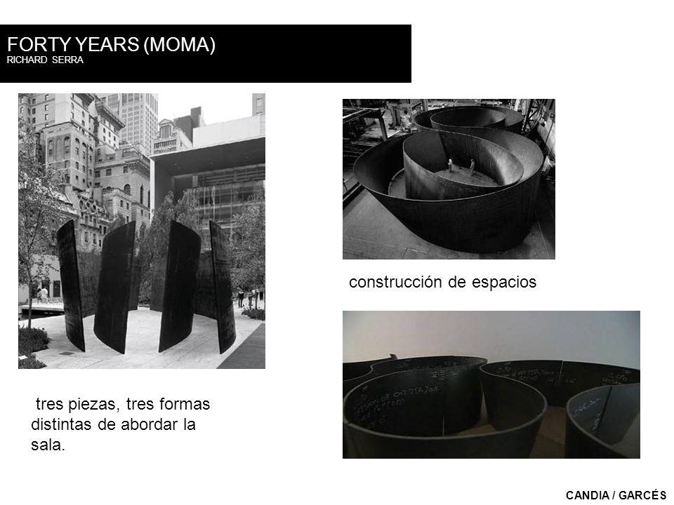 FORTY YEARS (MOMA) construcción de espacios