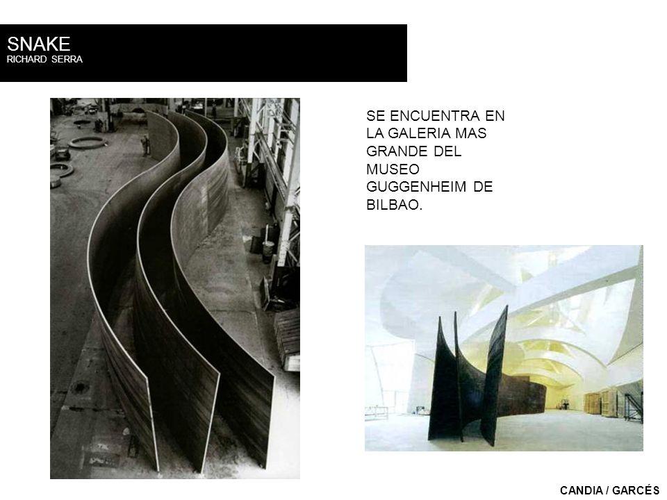 SNAKE RICHARD SERRA. SE ENCUENTRA EN LA GALERIA MAS GRANDE DEL MUSEO GUGGENHEIM DE BILBAO.