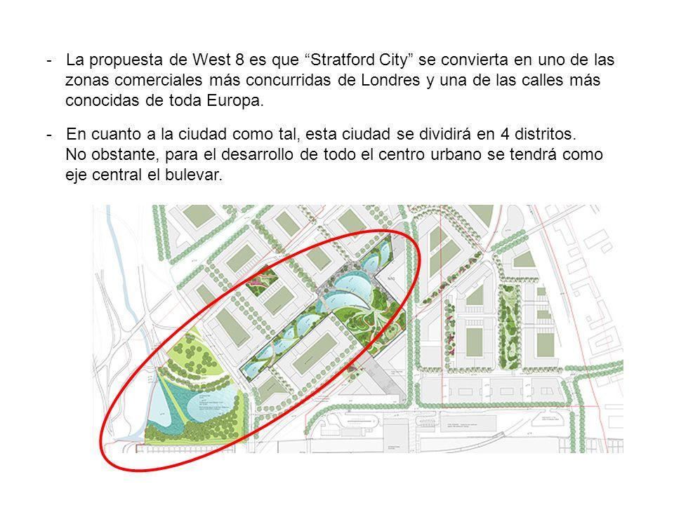 La propuesta de West 8 es que Stratford City se convierta en uno de las