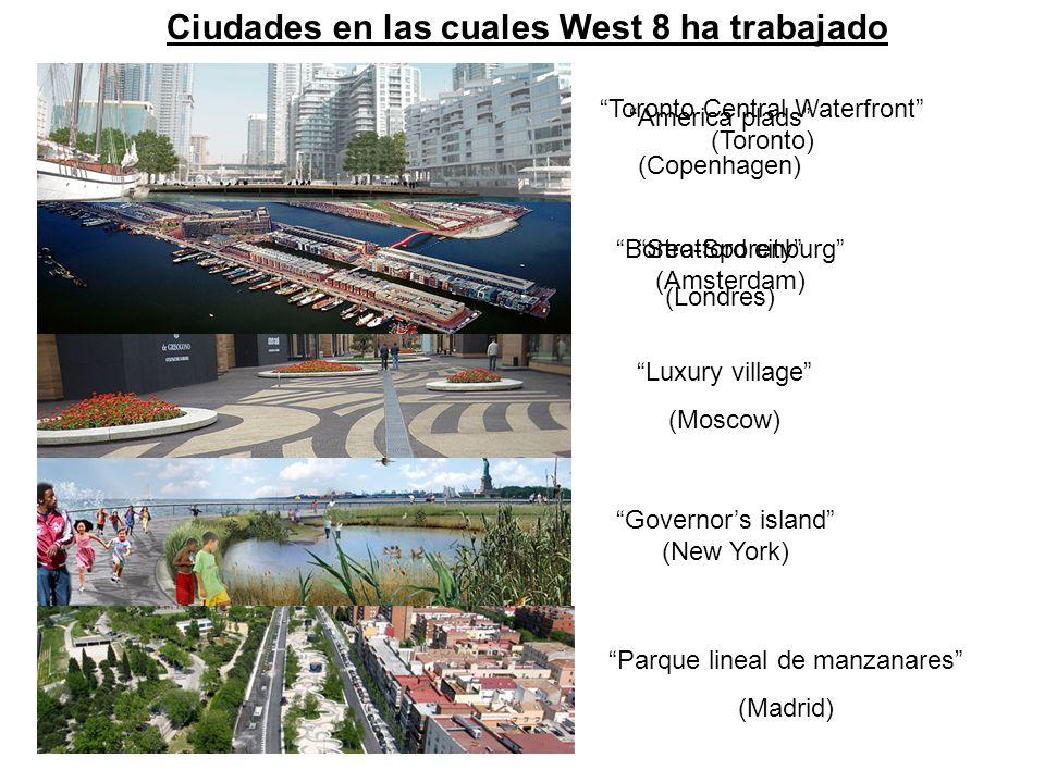 Ciudades en las cuales West 8 ha trabajado