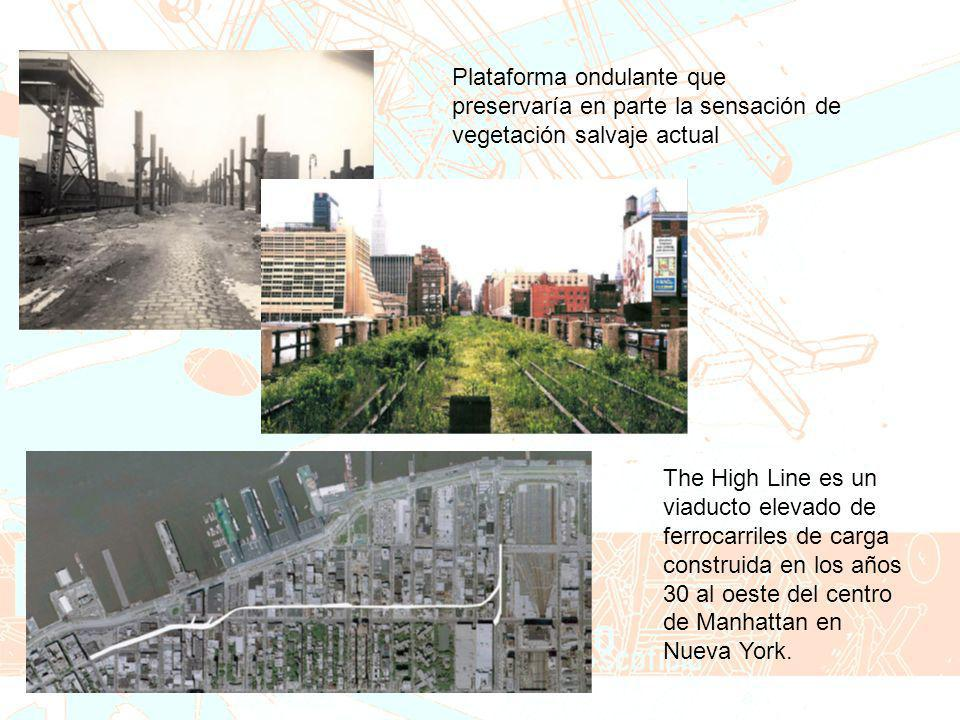 Plataforma ondulante que preservaría en parte la sensación de vegetación salvaje actual