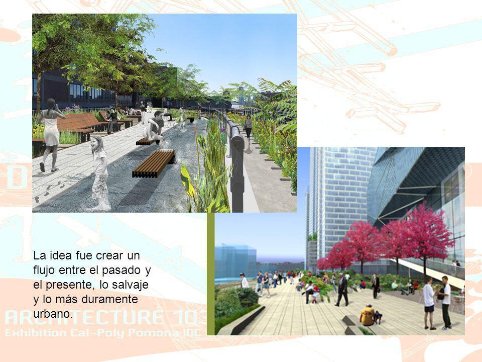 La idea fue crear un flujo entre el pasado y el presente, lo salvaje y lo más duramente urbano.