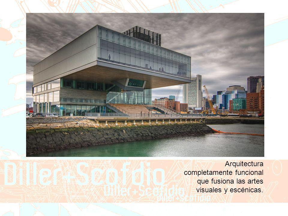 Arquitectura completamente funcional que fusiona las artes visuales y escénicas.