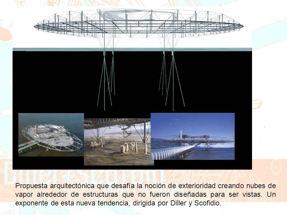 Propuesta arquitectónica que desafía la noción de exterioridad creando nubes de vapor alrededor de estructuras que no fueron diseñadas para ser vistas.