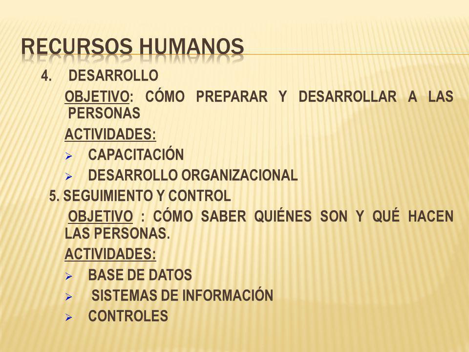 Recursos Humanos 4. DESARROLLO