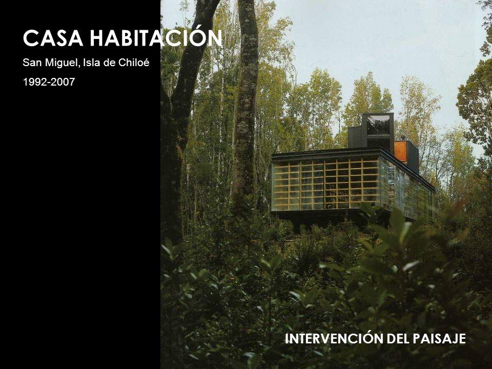 CASA HABITACIÓN INTERVENCIÓN DEL PAISAJE San Miguel, Isla de Chiloé