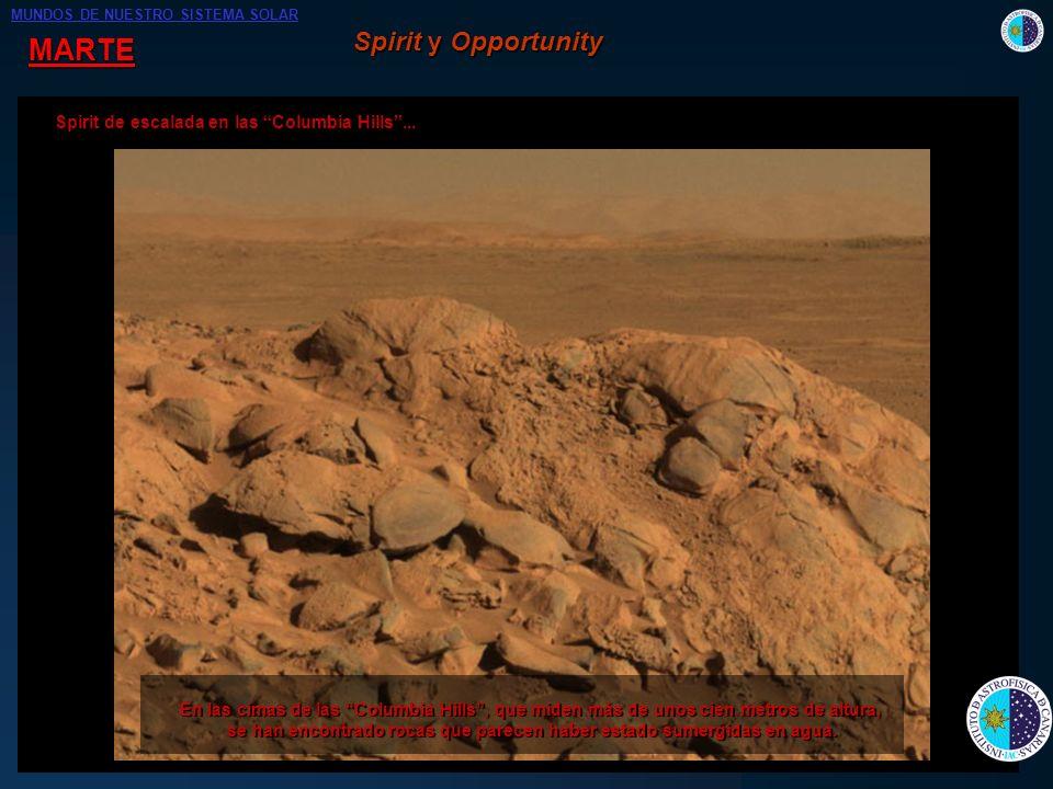 se han encontrado rocas que parecen haber estado sumergidas en agua.