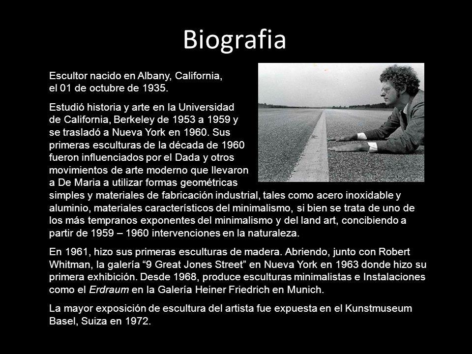 Biografia Escultor nacido en Albany, California, el 01 de octubre de 1935.